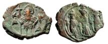 Ancient Coins - Constans II With Constantine IV, Heraclius & Tiberius (Sons) Follis Exceptional