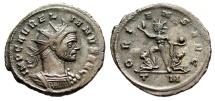 "Ancient Coins - Aurelian AE Antoninianus ""ORIENS AVG Sol, Captives"" Mediolanum (MIlan) RIC 150"