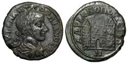 "Ancient Coins - Gordian III AE26 of Markianopolis, Thrace ""City Gate, Two Towers"" Good Fine"