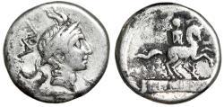 """Ancient Coins - L Marcius Philippus AR Denarius """"Philip V of Macedon Portrait & Equestrian"""""""