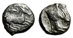 "Ancient Coins - Sicily, Panormos ""Horse Galloping, Grain Ear & Forepart Man-Headed Bull"" Rare"