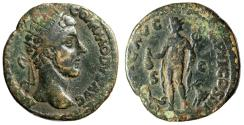 "Ancient Coins - Commodus AE Dupondius ""RELIG Mercury, Goat & Cock"" Unpublished Extremely Rare"