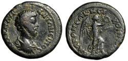 "Ancient Coins - Marcus Aurelius AE25 of Nicomedia in Bithynia ""Nike, Palm & Wreath"" Rare gF"