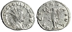 "Ancient Coins - Claudius II Silvered Antoninianus ""VICTORIA AVG Victory"" Rome RIC 104 nVF"