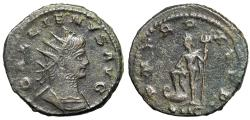 "Ancient Coins - Gallienus AE Antoninianus ""Neptune, Trident"" Antioch Dated 263-264 AD Scarce"