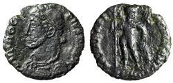 "Ancient Coins - Procopius AE18 ""REPARATIO FEL TEMP Chi Rho Christogram"" Heraclea RIC 7 Scarce"