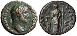 """Ancient Coins - Hadrian AE As """"Libertas, Pileus"""" Rome 134-138 AD RIC 818 VF"""