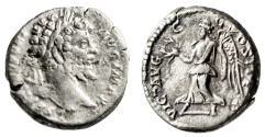 "Ancient Coins - Septimius Severus Silver Denarius ""VICT AVGG Victory"" Rome RIC 120c Scarce VF"