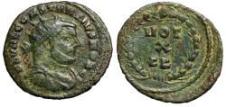"Ancient Coins - Constantius I Chlorus AE Radiate ""VOT X FK in Wreath"" Carthage 303 AD Scarce"