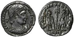 "Ancient Coins - Constantine I The Great ""GLORIA EXERCITVS Soldiers"" Siscia RIC 252 gVF"