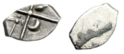 """Ancient Coins - Celtic Gaul, Volcae Tectosages Tribe AR Hemiobol """"Objects in Quadrants"""" Rare EF"""