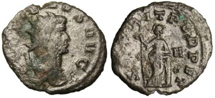 """Ancient Coins - Gallienus Billon Ant. """"SECVRIT PERPET Securitas"""" RIC 280 nVF"""