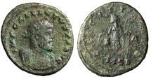 """Ancient Coins - Allectus AE Antoninianus """"LAETITIA AVG Laetitia"""" Londinium (London) RIC 22"""