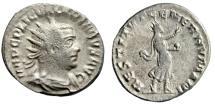"Ancient Coins - Valerian AR Antoninianus ""RESTITVT GENER HVMANI Salute, Globe"" RIC 220 nVF"