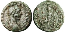 "Ancient Coins - Severus Alexander ""Tyche Seated"" Macedonia Amphipolis"