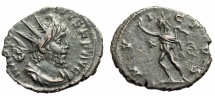 """Ancient Coins - Victorinus AE Antoninianus """"INVICTVS Sol With Whip"""" Cologne RIC 114 gVF"""