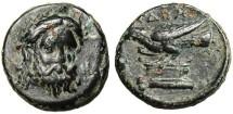 """Ancient Coins - Mysia Adramytion AE12 """"Zeus Facing & Eagle Left on Altar"""" VF"""