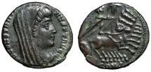 "Ancient Coins - Divus Constantine I The Great AE15 ""Quadriga, Hand of God"" Constanintople gVF"