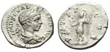 "Ancient Coins - Severus Alexander AR Denarius ""Mars With Branch"" Antioch RIC 262 var Rare"