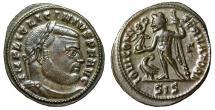"Ancient Coins - Licinius I AE Follis ""IOVI CONSERVATORI Jupiter, Eagle"" Siscia RIC 8 Good VF"