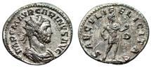 "Ancient Coins - Carinus Silvered Antoninianus ""SAECVLI FELICITAS"" Lugdunum RIC 214 Choice EF"