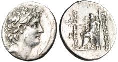 """Ancient Coins - Alexander II Zabina Silver AR Tetradrachm """"Zeus, Lotus Scepter"""" Antioch Scarce"""