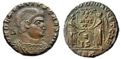"Ancient Coins - Decentius Centenionalis ""Two Victories, IS E"" Arles RIC 180 Scarce Choice EF"