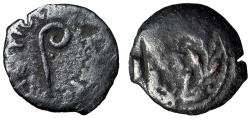"""Ancient Coins - Pontius Pilate, Judean Procurator AE Prutah """"Lituus & Date RY 17 Wreath"""" VF"""