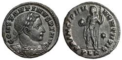 "Ancient Coins - Constantine I The Great AE Follis ""PRINCIPI IVVENTVTIS Princeps Globe"" London EF"