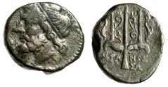 "Ancient Coins - King of Syracuse: Hieron II AE20 ""Poseidon & Trident, Dolphins"" Syracuse VF"