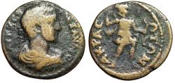 "Ancient Coins - Severus Alexander AE25 of Acrasus in Lydia ""Artemis Huntress, Bow & Arrow"" Rare"