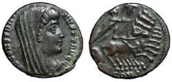"Ancient Coins - Divus Constantine I The Great AE15 ""Quadriga, Hand of God"" Constanintople gVF"