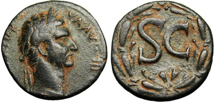 "Ancient Coins - Nerva, Ae25 ""SC Within Laurel Wreath"" Syria Antioch VF"