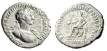 "Ancient Coins - Hadrian Silver Denarius ""HADRIANO DIVI TRA Legends / Concordia"" RIC 9c Rare"