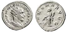 "Ancient Coins - Philip I The Arab AR Double Denarius ""Annona By Modius Rome 244-247 AD VF"