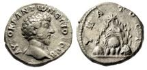 """Ancient Coins - Marcus Aurelius AR Didrachm of Cappadocia, Caesarea """"Mount Argaeus"""" Good VF"""
