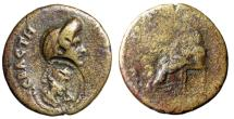 "Ancient Coins - Domitian (Wife Domitian) AE21 Domitianopolis Sala, Lydia ""Countermark"" Very Rare"
