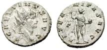 "Ancient Coins - Gallienus Silvered Antoninianus ""AETERNITAS AVG Sol"" Rome RIC 160 Good VF"