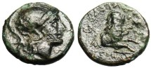 "Ancient Coins - Thracian King Lysimachos ""Forepart of Lion, Caeduceus left"" Circa 297-281 BC"