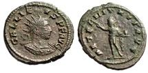 "Ancient Coins - Gallienus AE Antoninianus ""AETERNITATI AVG Sol"" Antioch RIC 629 VF"