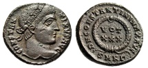 "Ancient Coins - Constantine I The Great AE3 ""VOT XXX in Wreath"" Heraclea RIC 70 Scarce EF"