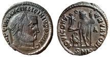 """Ancient Coins - Licinius I AE Follis """"IOVI CONSERVATORI Jupiter, Eagle"""" Cyzicus RIC 4 gVF"""