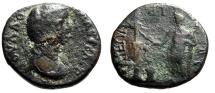"Ancient Coins - Julia Domna AE24 ""Ilos Sacrificing, Statue Athena Ilias"" Troas, Ilion Very Rare"