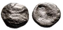 "Ancient Coins - Lesbos, Uncertain BI 1/48 Forty Eighth Stater ""Two Eyes & Incuse Punch"" Rare"