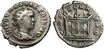 "Ancient Coins - SCARCE Valerian II Posthumous AE Ant. ""Flaming Altar"" RIC 24 Exceptional"
