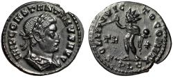 "Ancient Coins - Constantine I The Great Follis ""SOLI INVICTO COMITI Sol, Star"" Lyons RIC 32 EF"
