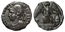 """Ancient Coins - Constantinople City Commemorative """"Victory"""" Rome RIC 339 Scarce Choice EF"""