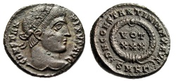 """Ancient Coins - Constantine I The Great AE3 """"VOT XXX in Wreath"""" Heraclea RIC 70 Scarce EF"""