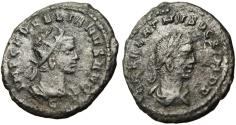 "Ancient Coins - Aurelian & Vabalathus AE Antoninianus ""Busts"" Rare C Mark Variant RIC 381"