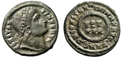 """Ancient Coins - Constantine I The Great AE3 """"Eyes to Heaven / Votive"""" Heraclea RIC 72 Rare"""